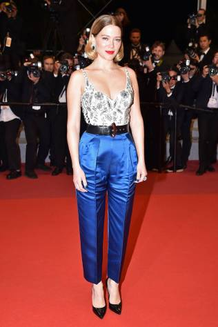Lea Seydoux in Louis Vuitton al Cannes Film Festival Red Carpet 2019