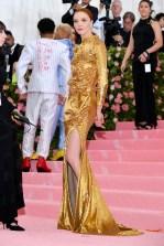 Mariacarla Boscono wearing Buberry at the Metropolitan Museum of Art's Costume Institute Gala 2019