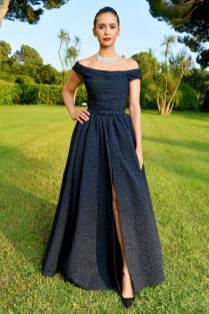 Nina Dobrev in Dior all'amfAR Cannes Gala