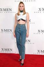 Sophie Turner in Louis Vuitton al X-Men Dark Phoenix photocall, London