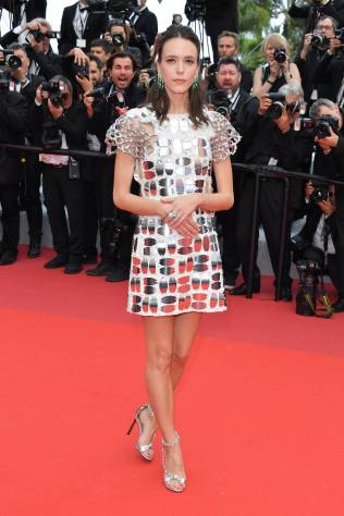 Stacy Martin in Louis Vuitton al Cannes Film Festival Red Carpet 2019