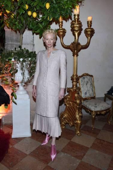 Tilda Swinton al The Tiepolo Ball, Venice