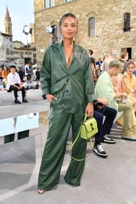 Alisha Boe in Salvatore Ferragamo al Salvatore Ferragamo shoe, Florence