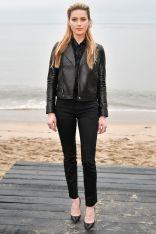 Amber Heard in Saint Laurent al Saint Laurent menswear show, LA