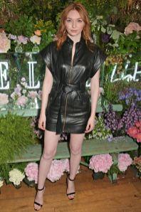 Eleanor Tomlinson in Dundas all'Elle List party, London