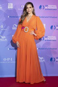 Jessica Alba in Silvia Tcherassi al Monte Carlo TV Festival, Monaco