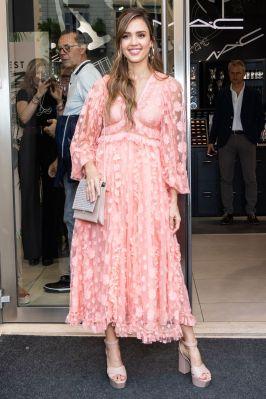 Jessica Alba al Milan Honest Beauty launch