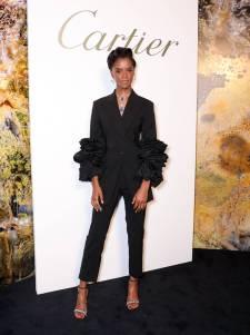 Letitia Wright con gioielli Cartier al Cartier's Magnitude Jewellery Gala Dinner, London