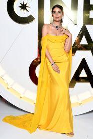 Lily Aldridge in Vivienne westwood con gioielli Bulgari al Bvlgari Hight exhibition launch, Capri
