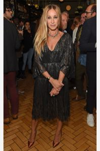 Sarah Jessica Parker in J. Mendel all'after party of The Starry Messenger, London