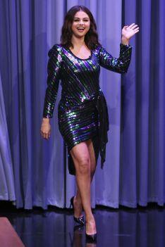 Selena Gomez in Marc Jacobs al The Tonight Show.