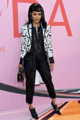 Teyaba Taylor in Thom Browne ai The CFDA Awards, New York