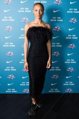 Adwoa Aboah in 16 Arlington design al Nike x Gurls Talk premiere of Spit Fire, London.