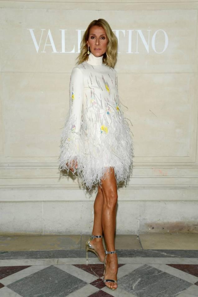 Celine Dion in Valentino al Valentino haute couture show, Paris