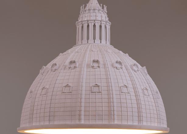 Seletti rende omaggio alla Cupola di San Pietro si trasforma in una scultorea illuminazione