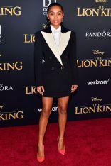 Yara Shahidi in Gucci alla The Lion King World Premiere, Hollywood