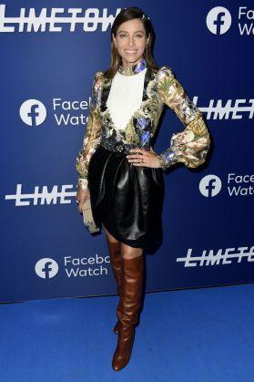 Jessica Biel in Louis Vuitton al Facebook event, Los Angeles.