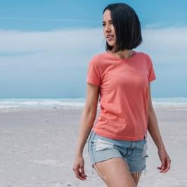 Rifò_T-shirt corallo