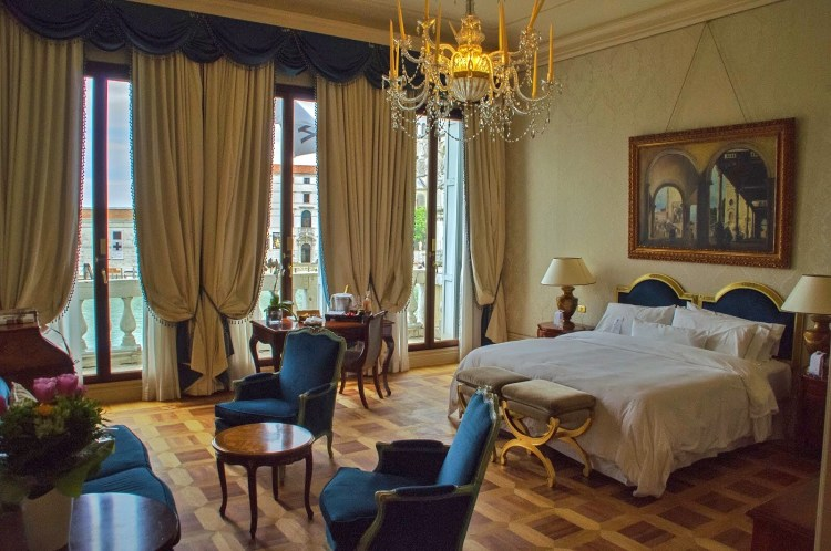 Bedroom at the Westin Europa & Regina Venice