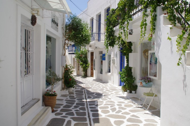 Parikia Street Paros Greek Islands