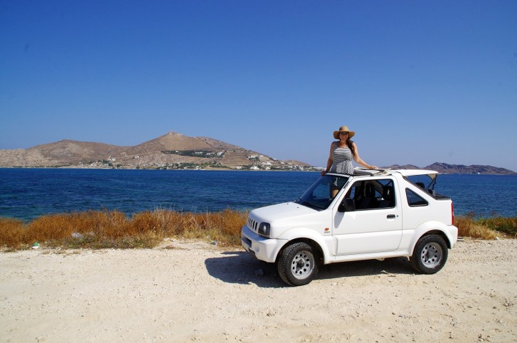 Paros in a Jeep