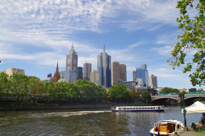Melbourne CBD Cityscape and Yarra River