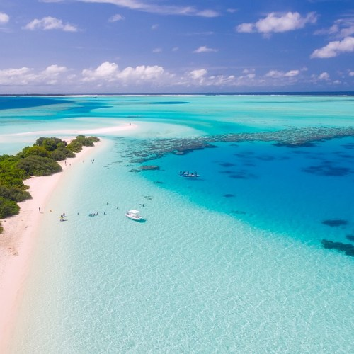 Maldives Beautiful Blue Ocean
