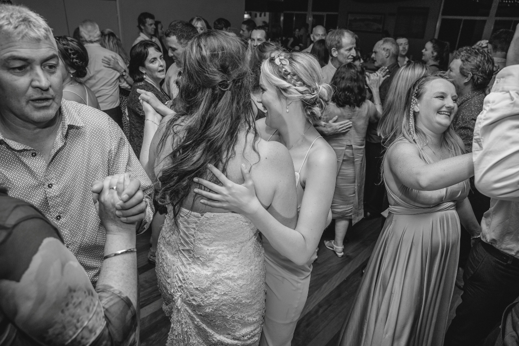 Bride and Maid of Honour dancing