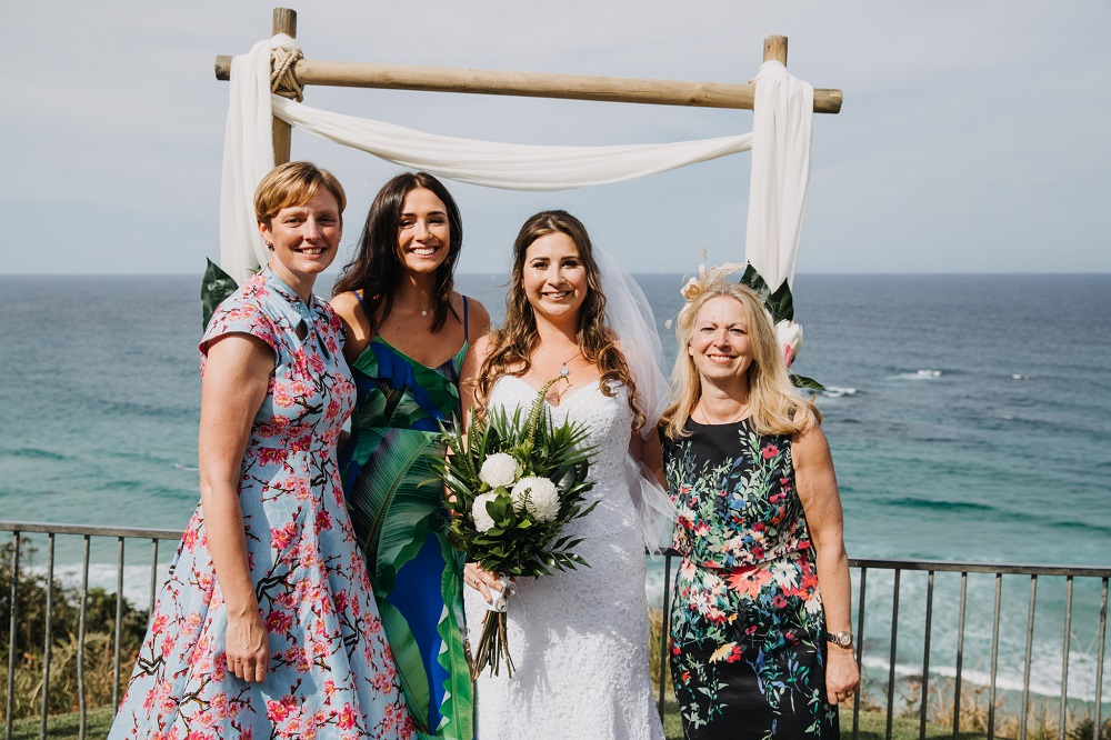 Bride with English friends