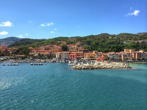 View of Port on Island of Elba in Italy