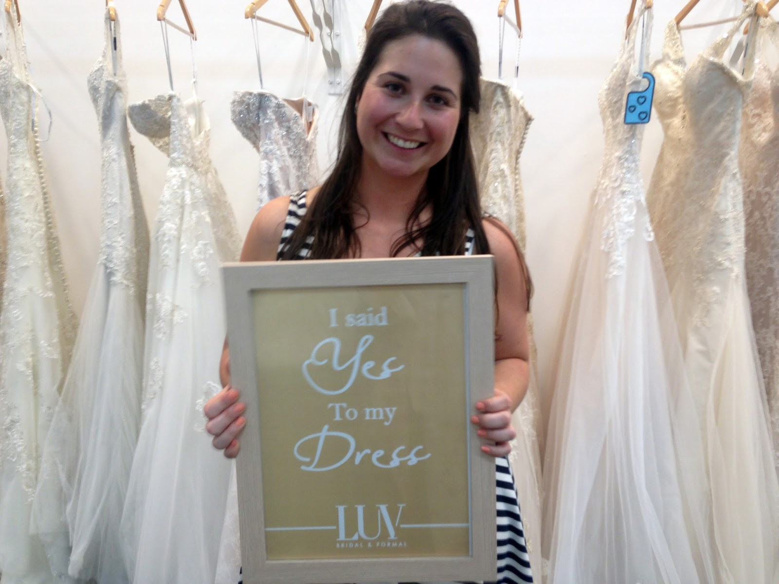 Girl with I said Yes to the Dress Sign Luv Bridal