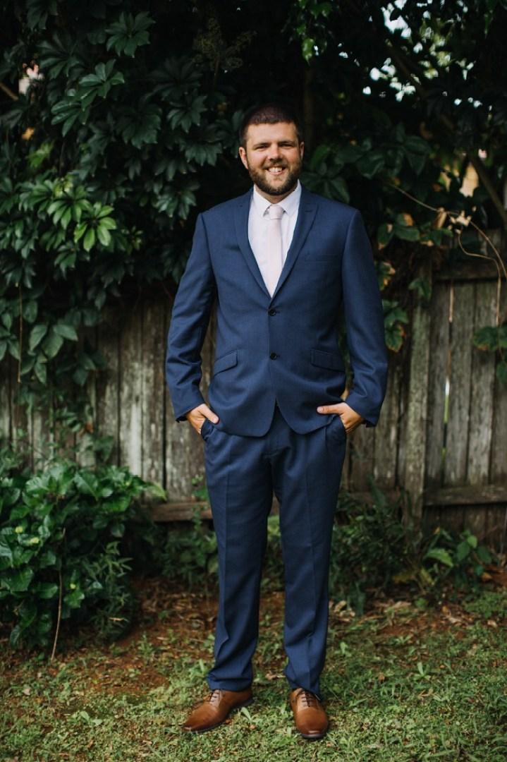 Groom in suit
