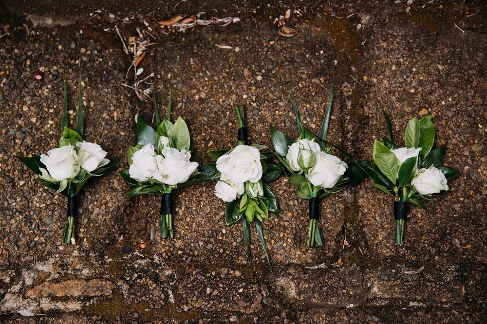 Groomsmen flowers
