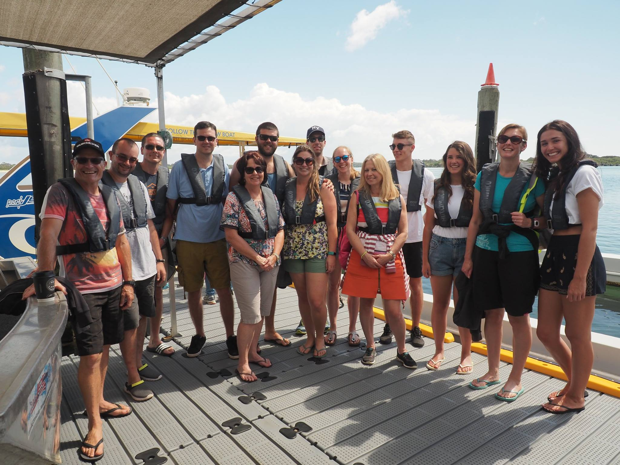 Group ready to go whale watching Port Macquarie