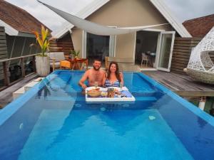 In Villa Floating Breakfast at Lux Maldives