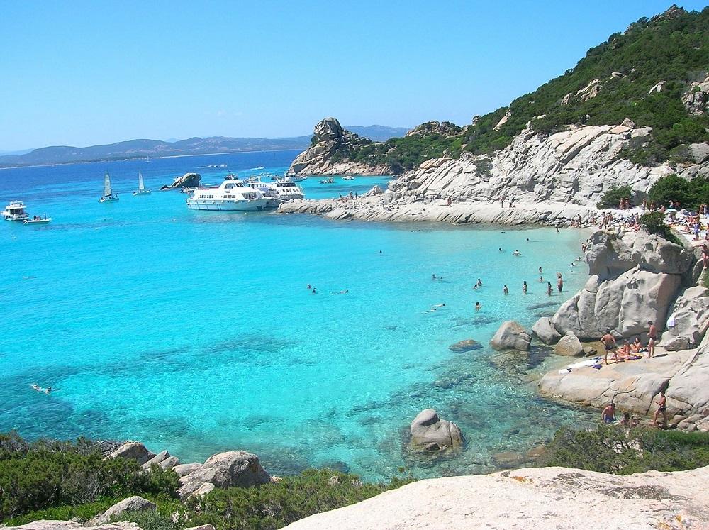 Stunning ocean surrounding Sardinia Italy