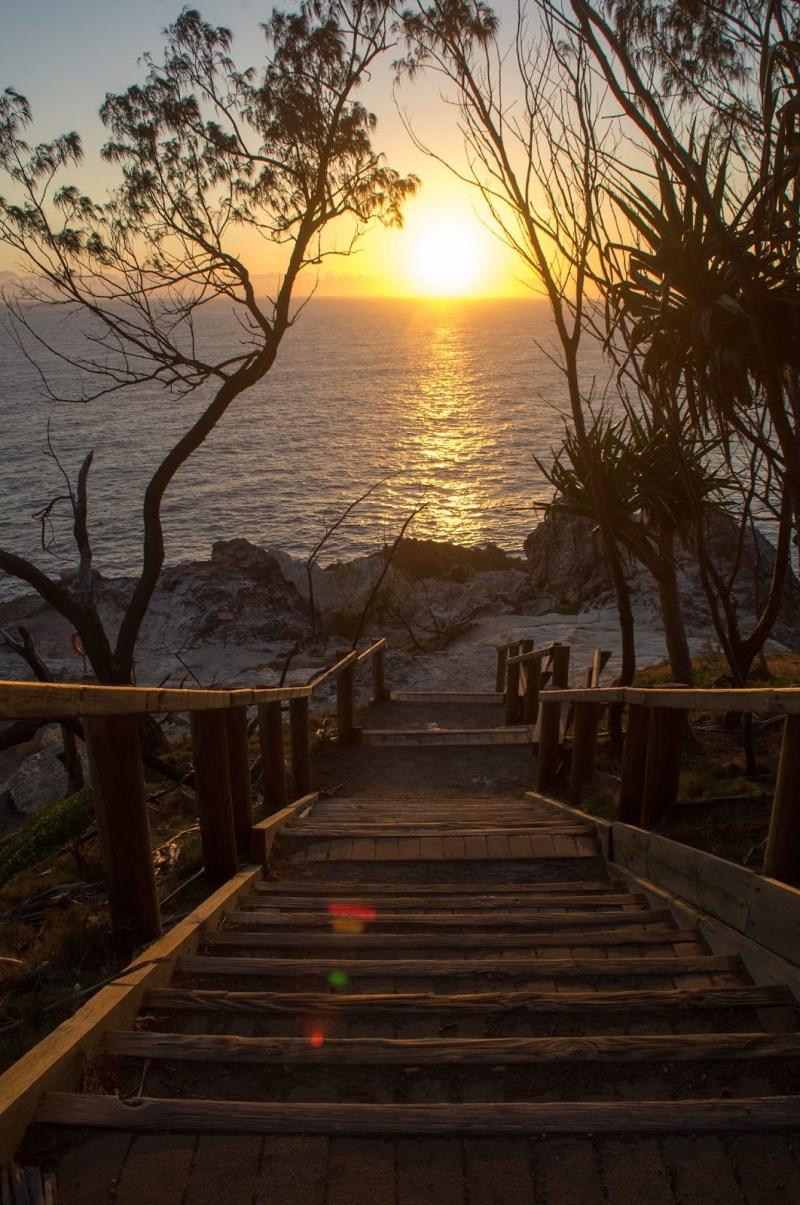 Sunrise at North Gorge Walk Stradbroke Island