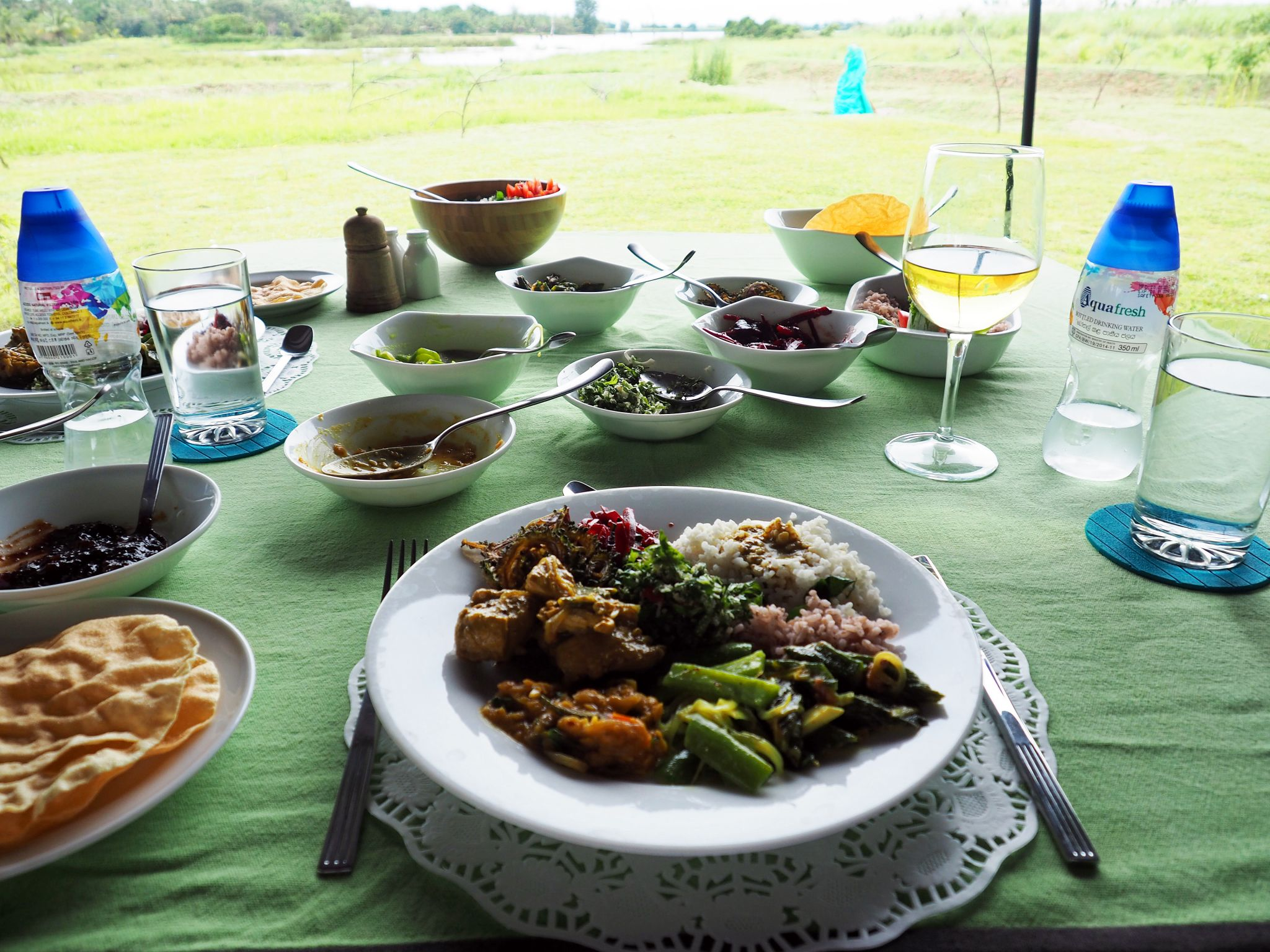 Lunch spread Master Campers Udawalawe