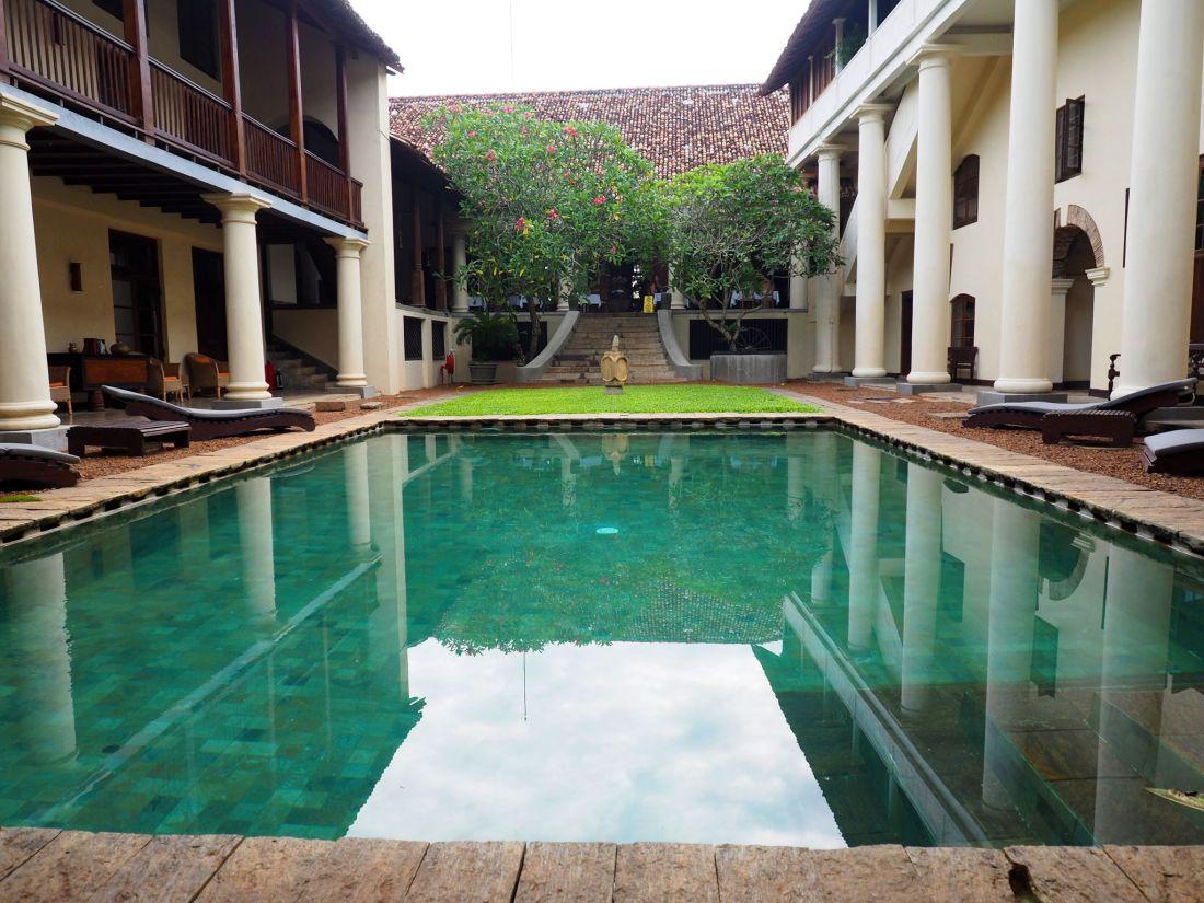 Luxury hotel pool Sri Lanka