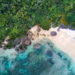 Okinawa beach from above