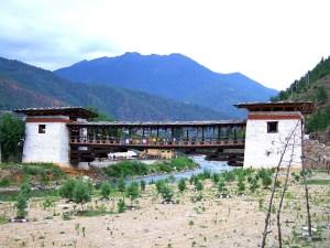 A bridge over the river at Thimphu