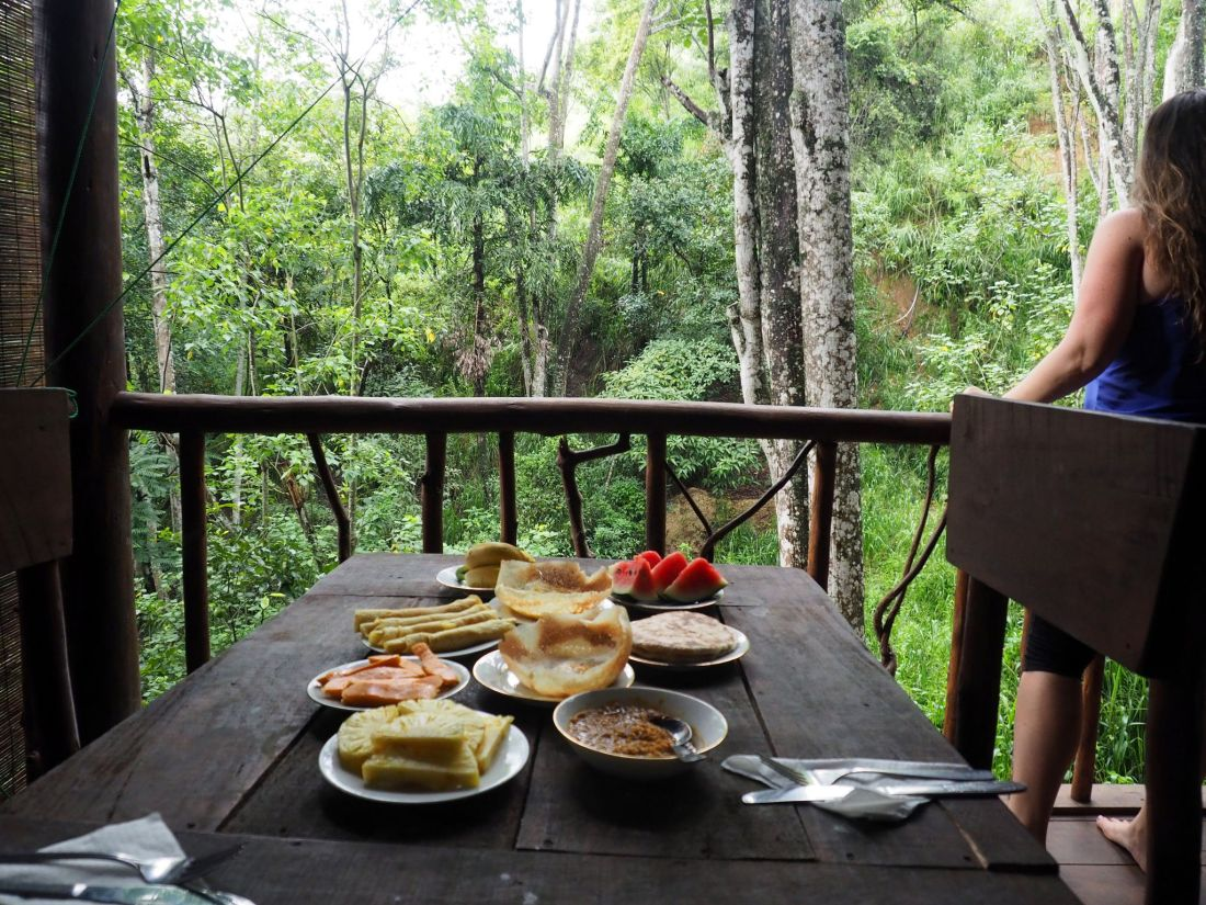 Breakfast at Ella Ecolodge Sri Lanka
