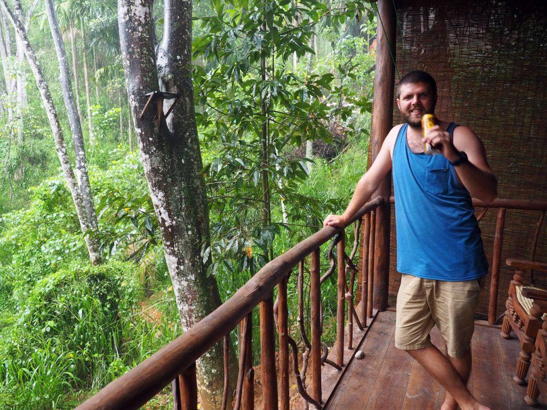 Dan on Ella Ecolodge Balcony