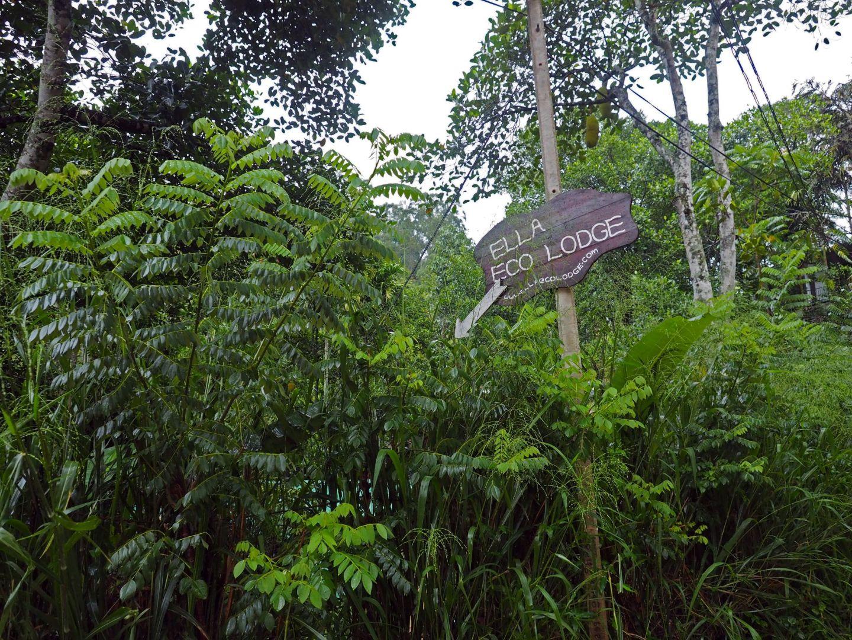 Ella Eco Lodge Sign
