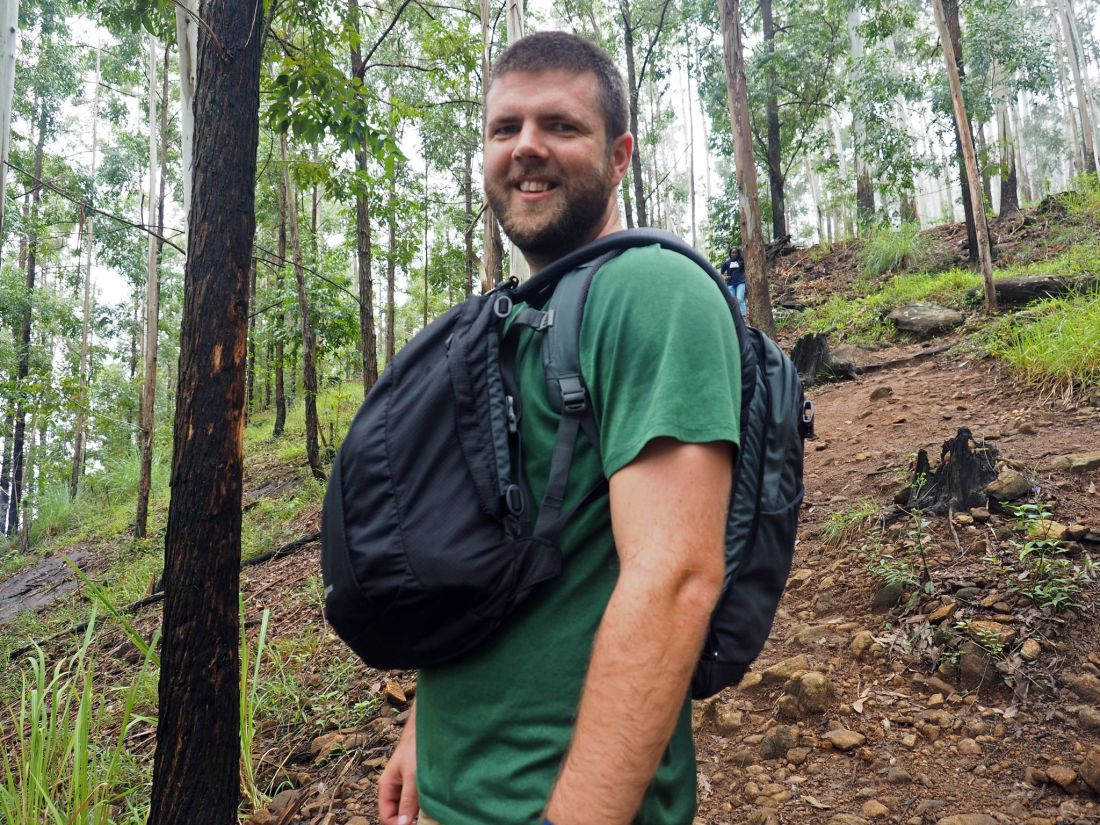 Male hiking Ella Rock