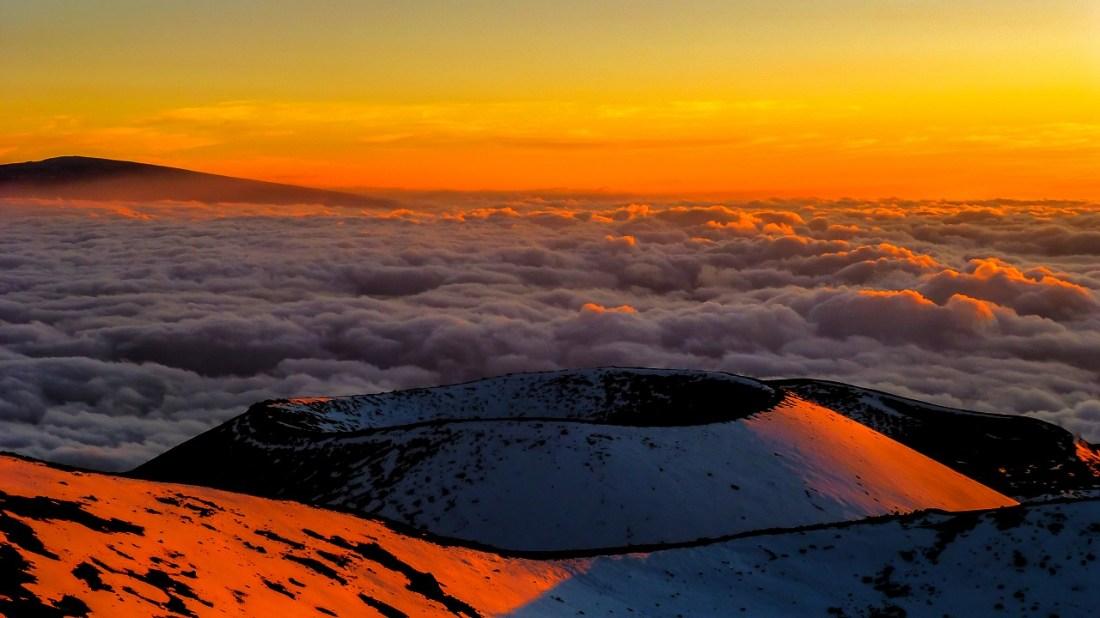 Sunset at Mauna Kea, The Big Island, Hawaii