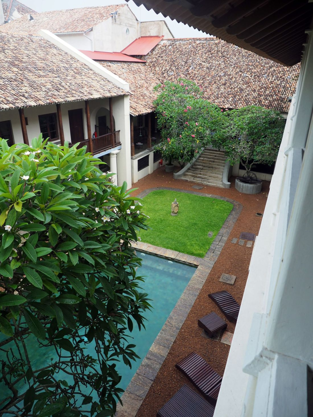 View of courtyard Galle Fort Hotel