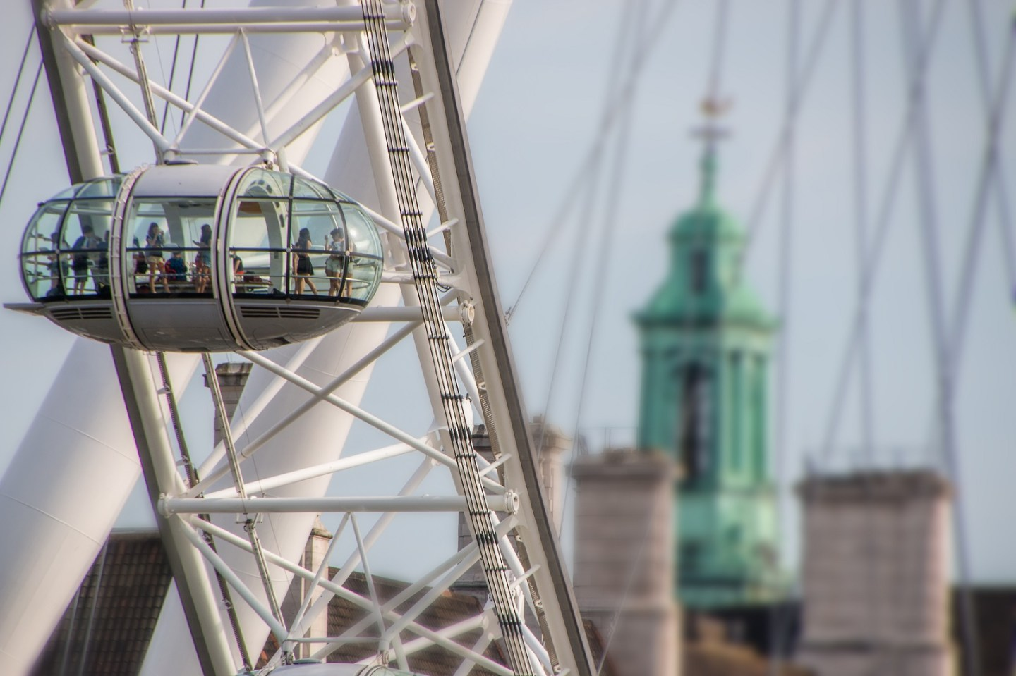 People on London Eye