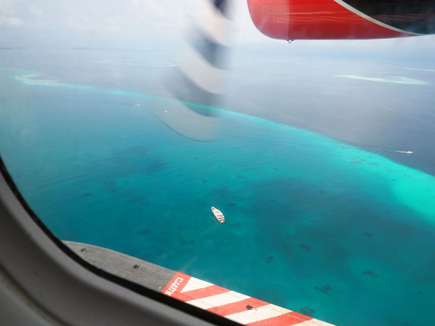 Beautiful view from Maldives seaplane