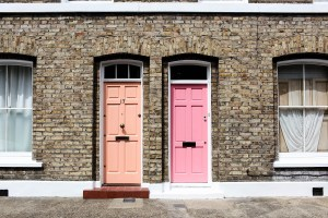 Colourful doors in London